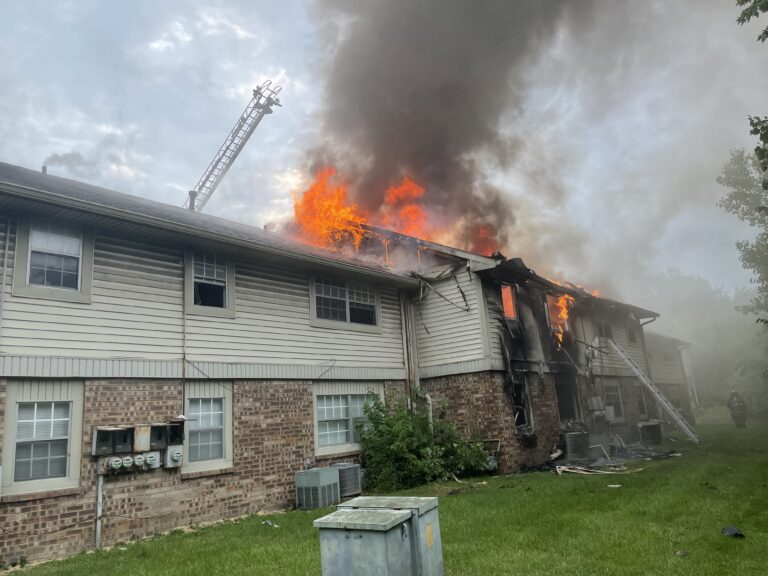 Large Apartment Fire at I465 and Rockville Road