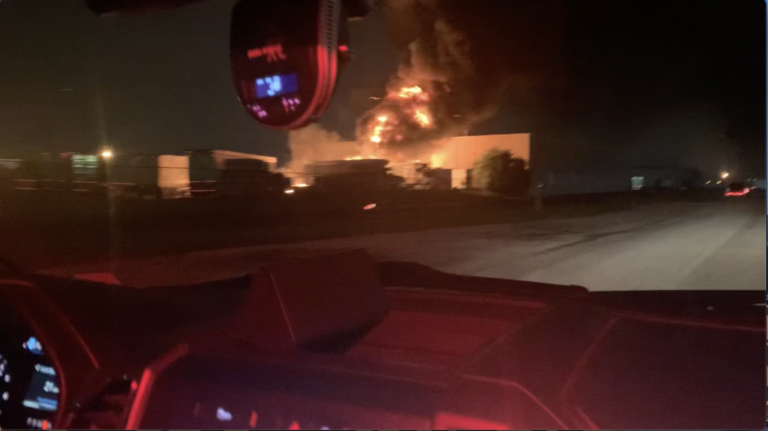 Chemical Fire in Stout Field Industrial Complex